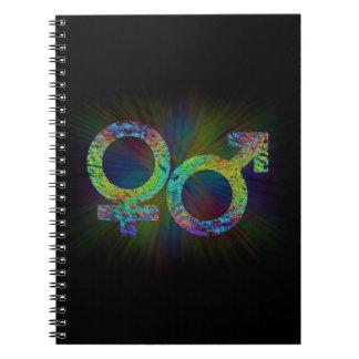 Gender symbols. notebook