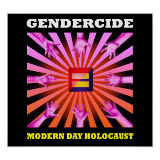 Gendercide: modern day holocaust poster