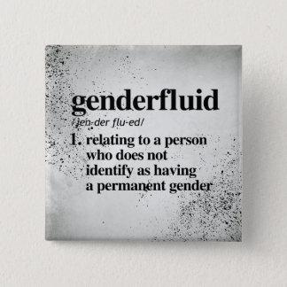 Genderfluid Definition - Defined LGBTQ Terms - 15 Cm Square Badge