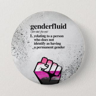 Genderfluid Definition - Defined LGBTQ Terms - 7.5 Cm Round Badge