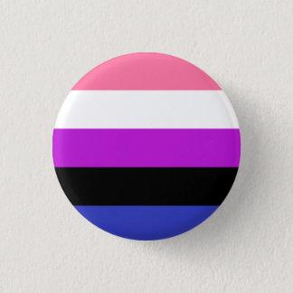Genderfluid flag 3 cm round badge
