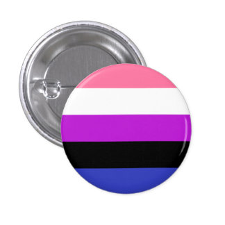 Genderfluid flag button