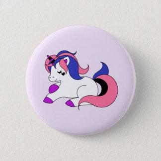 Genderfluid unicorn 6 cm round badge