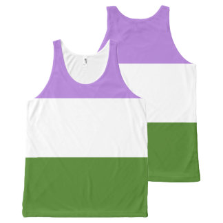 GenderQueer All-Over Print Singlet
