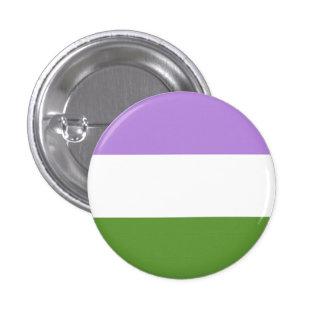 genderqueer flag 3 cm round badge