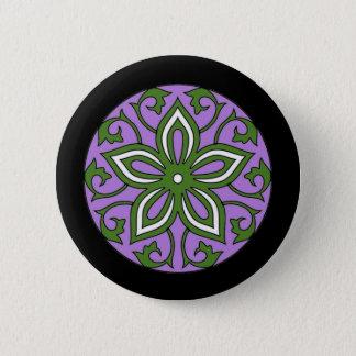 Genderqueer Flag Colors Floral Mandala LGBT 6 Cm Round Badge