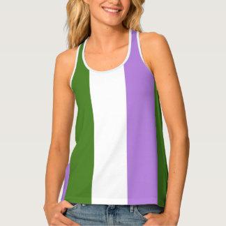 Genderqueer Flag LGBT Pride Racerback Singlet