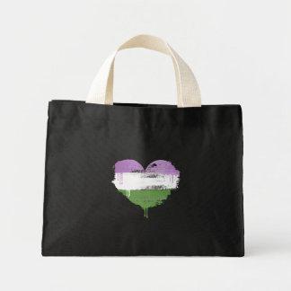 GENDERQUEER HEART - GENDERQUEER LOVE - MINI TOTE BAG