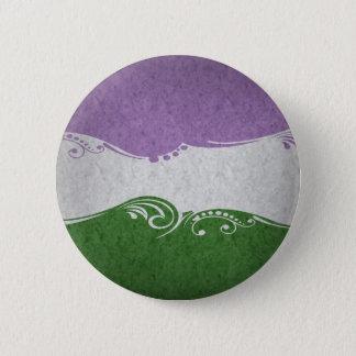 Genderqueer Ornamental Flag 6 Cm Round Badge