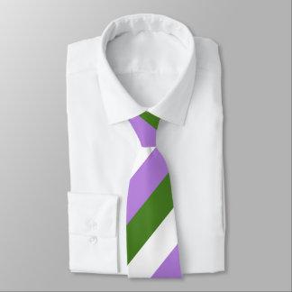 Genderqueer Pride Flag Colors LGBT Tie