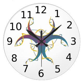 Gene Splicing Bio Hazard Symbol Large Clock