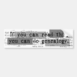 GENEALOGISTS DON'T SIN BUMPER STICKER