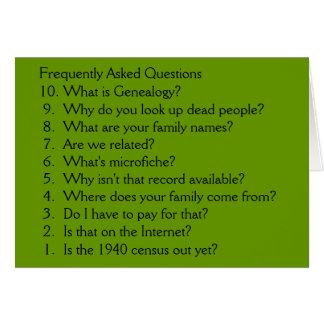 Genealogy - blank card