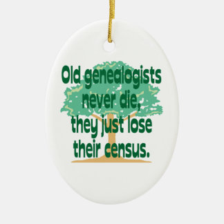 Genealogy Census Ornament