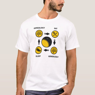 Genealogy. Eat. Genealogy. Sleep. T-Shirt