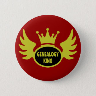 Genealogy King 6 Cm Round Badge
