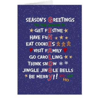 Genealogy Merry Christmas Season-Funny Christmas Card
