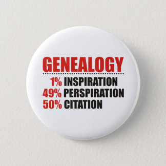 Genealogy Percentages 6 Cm Round Badge