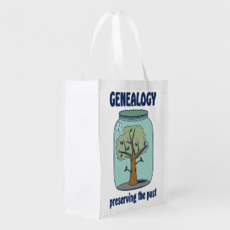 Genealogy Preserving The Past Reusable Grocery Bag
