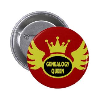 Genealogy Queen 2 6 Cm Round Badge