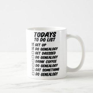 Genealogy To Do List Coffee Mug