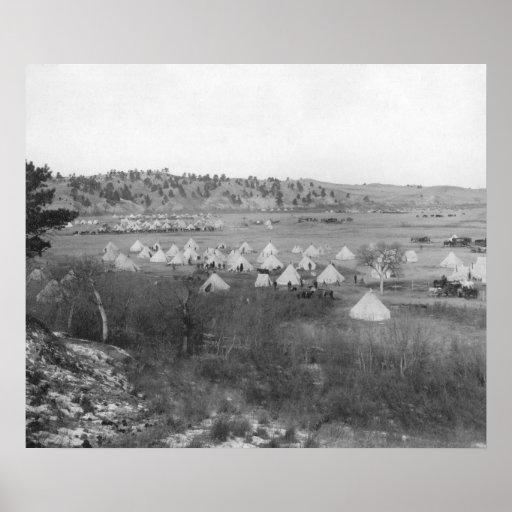 General Brook's Camp near Pine Ridge Print