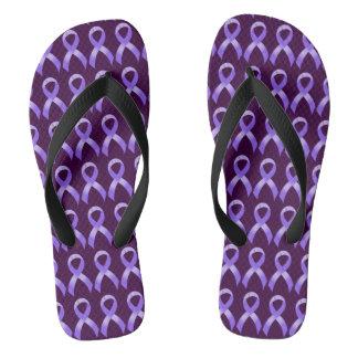 General Cancer - Lavender Ribbon Thongs