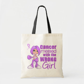 General Cancer Messed With Wrong Girl Canvas Bags