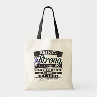 General Cancer Strong is The Only Choice Canvas Bags