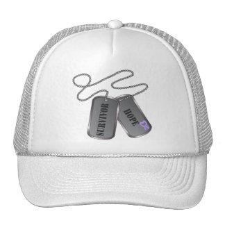 General Cancer Survivor Hope Dog Tags Mesh Hat