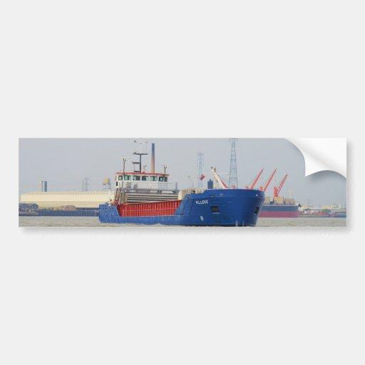 General cargo ship Willeke Bumper Stickers