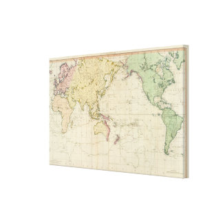 General chart historical map canvas prints