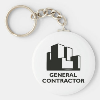 GENERAL CONTRACTOR BASIC ROUND BUTTON KEY RING