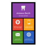General Dentist - Colourful Tiles Creative Pack Of Standard Business Cards