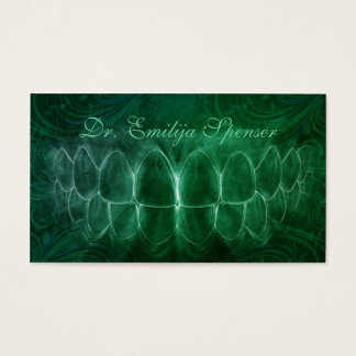 General Dentist Green Curves Business Card
