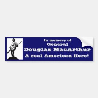 General Douglas MacArthur Car Bumper Sticker