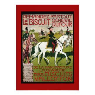 General Dufour Flour le Biscuit 1899 14 Cm X 19 Cm Invitation Card
