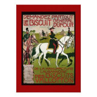 General Dufour Flour le Biscuit 1899 Custom Invites