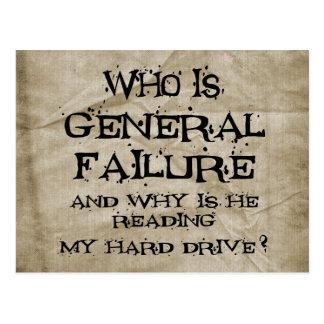 General Failure Postcard