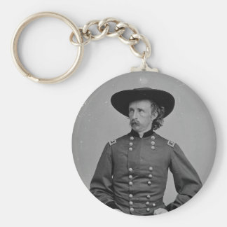 General George Armstrong Custer by Mathew Brady Key Ring