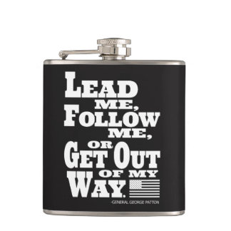 General George Patton Quote Flask