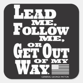 General George Patton Quote Sticker