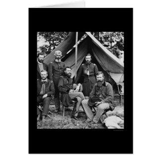 General George Stoneman & Staff at Fair Oaks 1862 Card