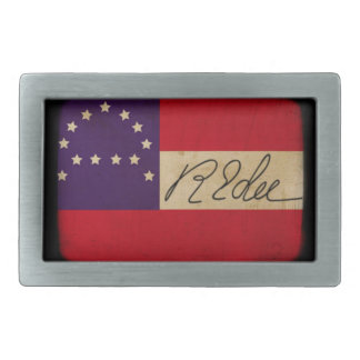 General Lee Headquarters Flag with Signature Belt Buckles