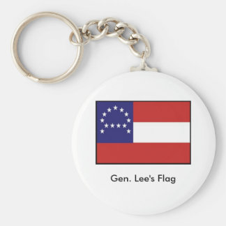 General Lee's Headquarters Flag Basic Round Button Key Ring