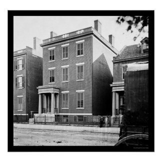 General Lee's Residence in Richmond, VA 1865 Poster