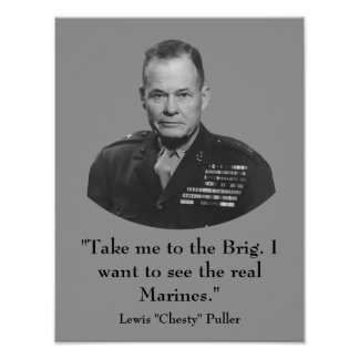 """General Lewis """"Chesty"""" Puller -- Marine Poster"""
