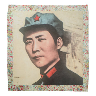 General Mao Zedong Bandana w/floral print