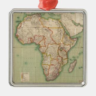 General Map of Africa (1909) Metal Ornament