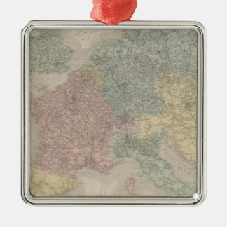 General map of European Railways Christmas Ornaments